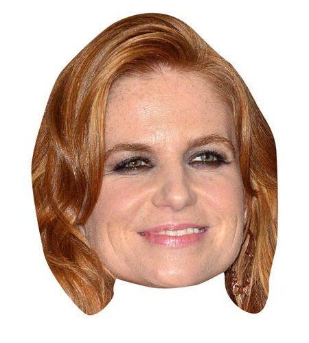 Patsy Palmer Maske aus Karton