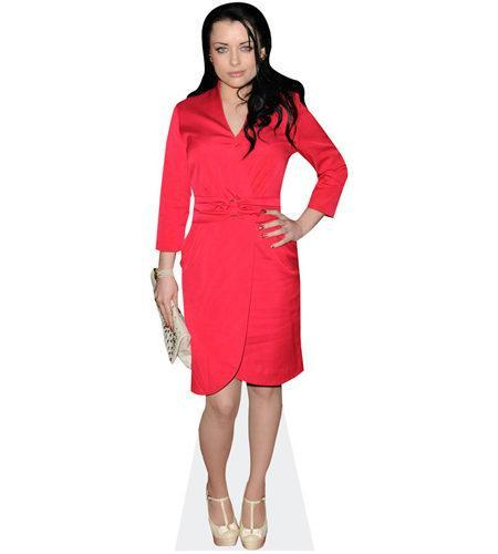 Shona McGarty (Red Dress) lebensgroßer Pappaufsteller