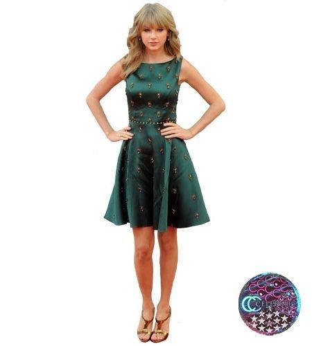 Taylor Swift (Green Dress) lebensgroßer Pappaufsteller