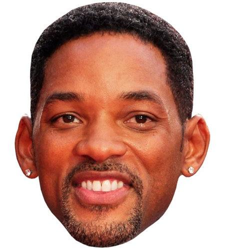 Will Smith Celebrity Maske aus Karton