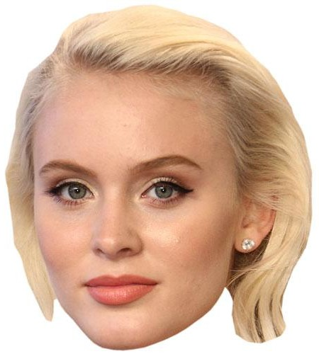 Zara Larsson Celebrity Maske aus Karton