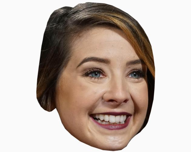Zoella Celebrity Maske aus Karton