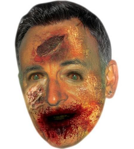 Zombie Bruce Springsteen Maske aus Karton