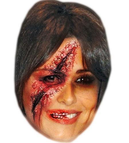 Zombie Cheryl Cole Maske aus Karton