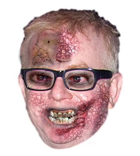 Zombie Chris Evans (Radio 2) Maske aus Karton