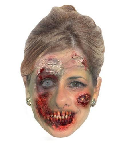 Zombie Darcey Bussell Maske aus Karton