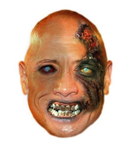 Zombie Dwayne Johnson Maske aus Karton