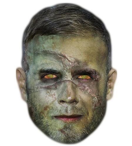 Zombie Gary Barlow Maske aus Karton