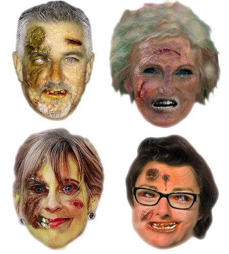 Bake Off Zombie Maske aus Karton Pack