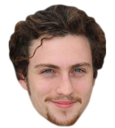 Aaron Johnson Celebrity Maske aus Karton