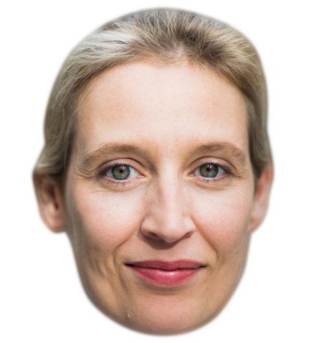 Alice Weidel Celebrity Maske aus Karton