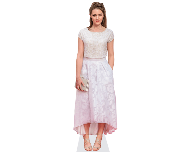 Anna Passey (Pink Skirt) Lebensgroßer Pappaufsteller
