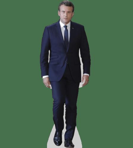 Emmanuel Macron Lebensgroßer Pappaufsteller