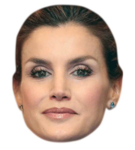 Letizia of Spain Celebrity Mask