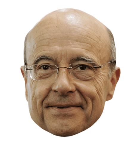 Alain Juppé Maske aus Karton