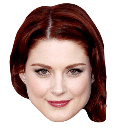 Alexandra Breckenridge Maske aus Karton