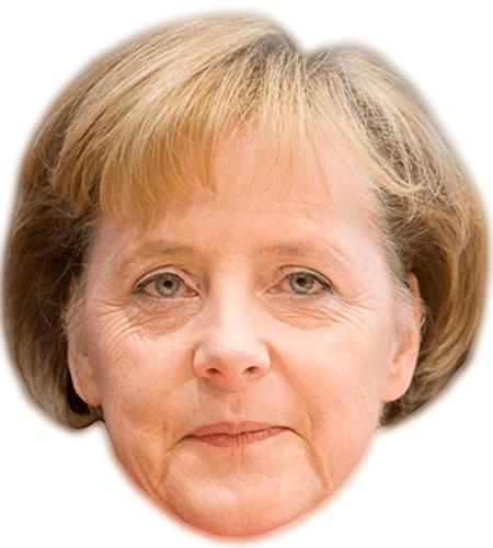 Angela Merkel Maske aus Karton