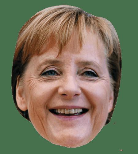 Angela Merkel (Smiling) Maske aus Karton