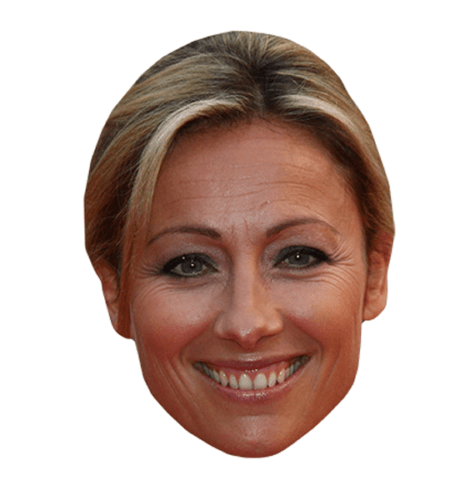 Anne-Sophie Lapix Maske aus Karton