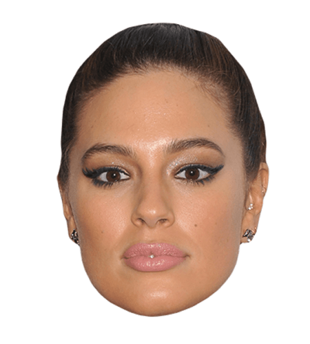 Ashley Graham Maske aus Karton