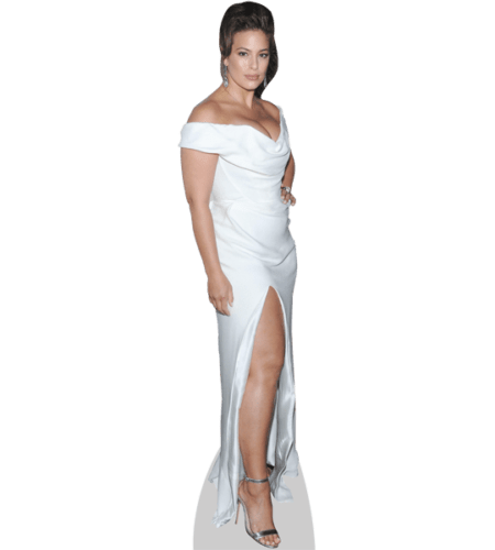 Ashley Graham (White Gown) Lebensgroßer Pappaufsteller