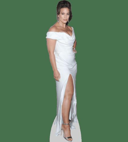 Ashley Graham (White Gown) Lebensgroßer Pappaufsteller