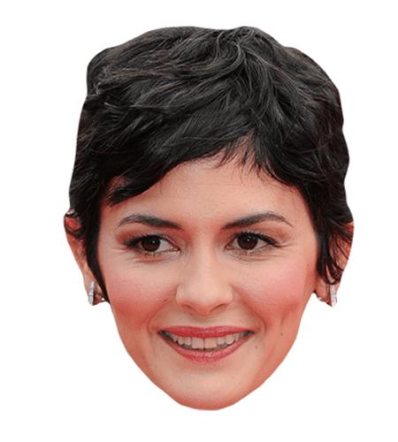 Audrey Tautou Maske aus Karton
