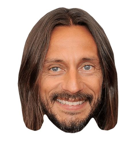 Bob Sinclar Maske aus Karton