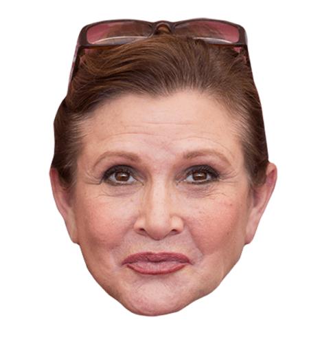 Carrie Fisher Maske aus Karton