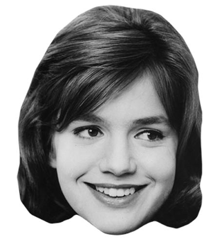 Catherine Spaak Maske aus Karton