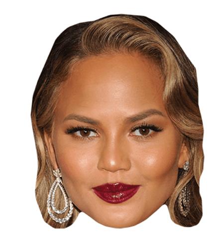 Chrissy Teigen Maske aus Karton