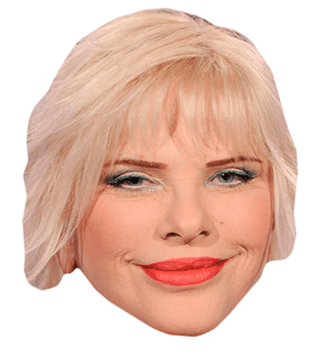 Cicciolina Maske aus Karton