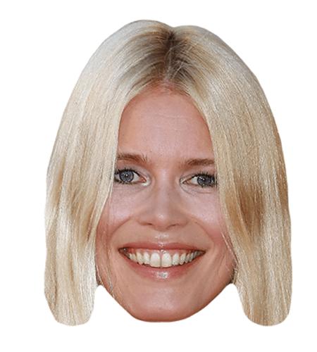 Claudia Schiffer Maske aus Karton