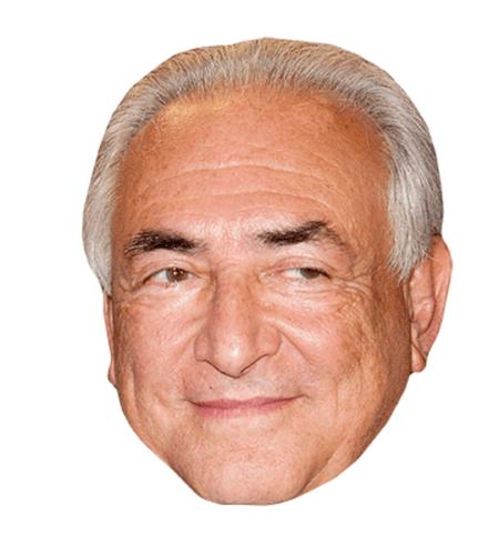 Dominique Strauss-Kahn Maske aus Karton