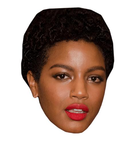 Ebonee Davis Maske aus Karton