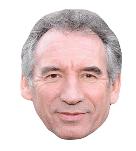 Francois Bayrou Maske aus Karton