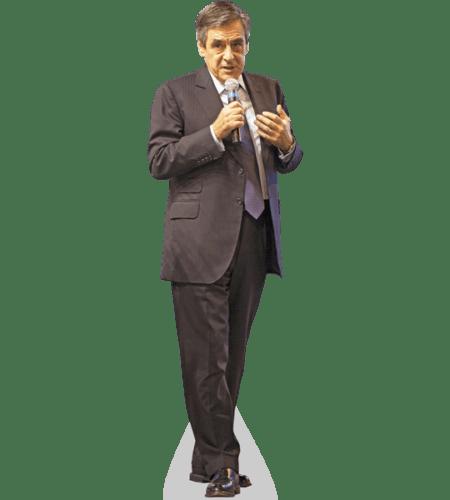 Francois Fillon Lebensgroßer Pappaufsteller