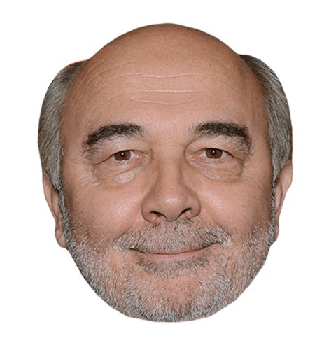 Gerard Jugnot Maske aus Karton