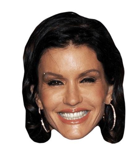 Janice Dickinson Maske aus Karton
