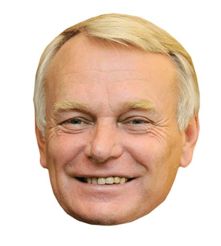 Jean-Marc Ayrault Maske aus Karton