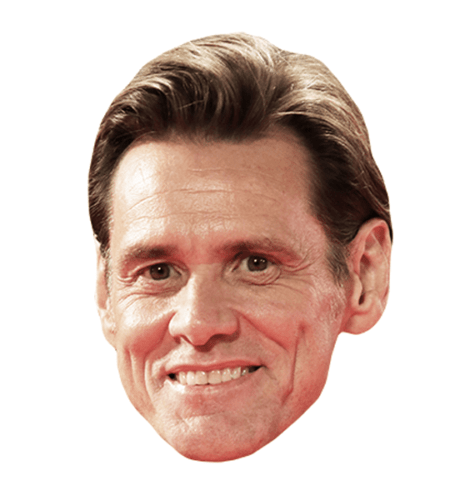 Jim Carrey Maske aus Karton