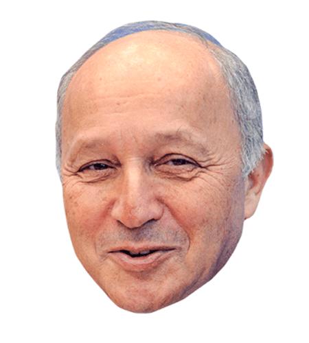 Laurent Fabius Maske aus Karton
