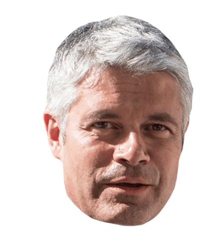 Laurent Wauquiez Maske aus Karton