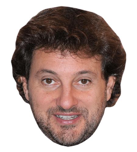 Leonardo Pieraccioni Maske aus Karton