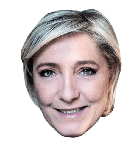 Marie Le Pen Maske aus Karton