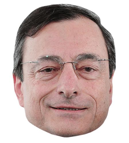 Mario Draghi Maske aus Karton