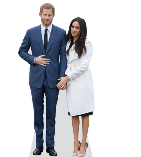 Prince Harry and Meghan Markle Lebensgroßer Pappaufsteller