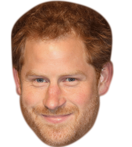 Prince Harry (Beard) Maske aus Karton