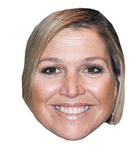 Princess Maxima Of The Netherlands Maske aus Karton