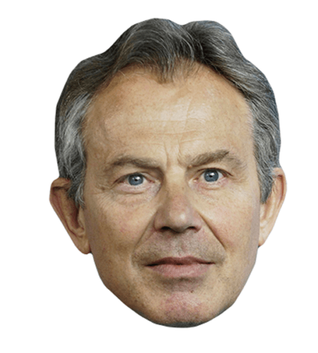 Tony Blair Maske aus Karton